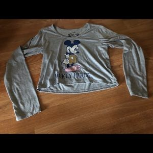 Disney Mickey Mouse long sleeve crop top XL
